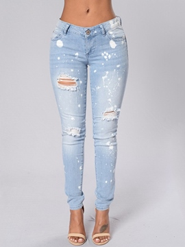 Ericdress Unique Ripped Jeans