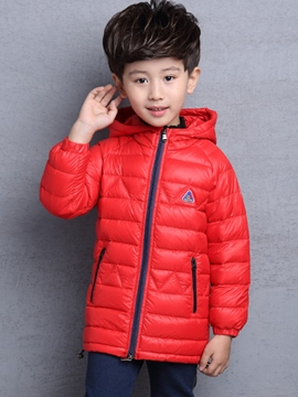 Ericdress Camouflage Hooded Boys Coat
