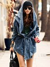 Ericdress Casual Loose Hooded Denim Outerwear