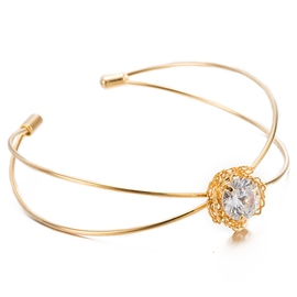 Ericdress Crystal Inlaid Gold Opening Bracelet