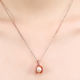 Ericdress Golden Shell Pearl Pendant Necklace