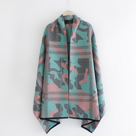 Ericdress Camouflage Design Thick Shawl
