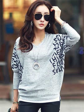 Ericdress Batwing Sleeve Casual T-Shirt
