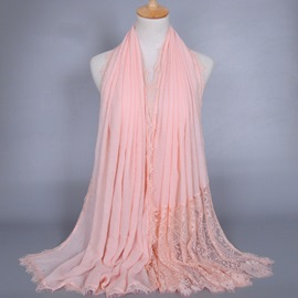 Eicdress Lace Patchwork Solid Color Scarf