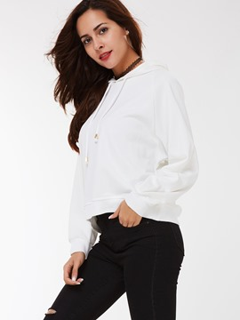 Ericdress Casual Loose Lace-Up Cool Hoodie