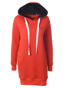 Ericdress Color Block Loose Straight Cool Hoodie