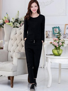 Ericdress Simple Long Sleeve Jumpsuits Pants