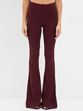 Ericdress Solid Color Simple Flared Pants