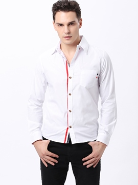 Solid Color Stand Collar Long Sleeve Shirt