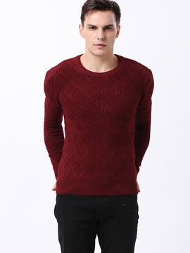 Ericdress Plain Jacquard Warm Slim Men's Sweater