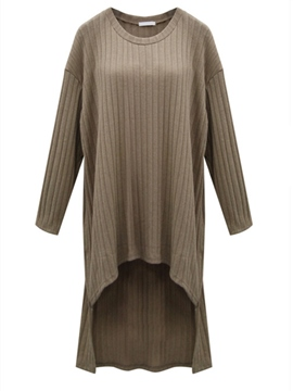Ericdress Plain Long Sleeve Loose Casual Dress