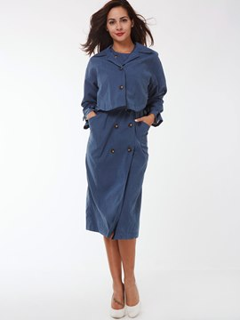 Ericdress Vintage Solid Color Suit