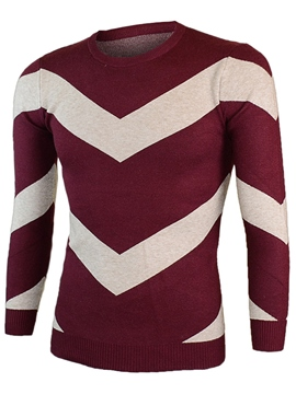 Ericdress Wide Stripe Pullover Men's Sweater