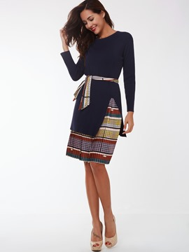 Ericdress Unique Print Pleated Skirt Suit