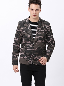 Ericdress Camouflage Slim Casual Men's Blazer