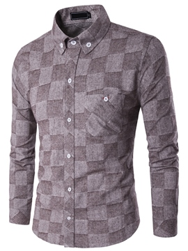 Ericdress Quality Print Long Sleeve Slim Men's Shirt