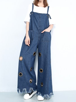 Ericdress Unique Loose Suspender Pants