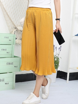 Ericdress Pleated Seven Points Pants