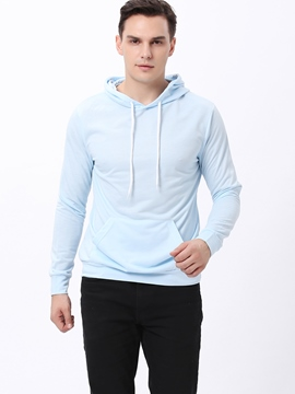 Ericdress Solid Color Pullover Men's Hoodie