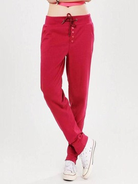 Ericdress Solid Color Sports Pants