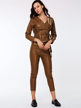 Ericdress Fashion PU Leisure Suit