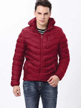 Ericdress Plain Thicken Warm Men's Winter Coat
