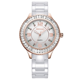 Ericdress Round Ceramic Band Women's Watch