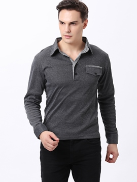 Lapel Long Sleeve T-Shirt