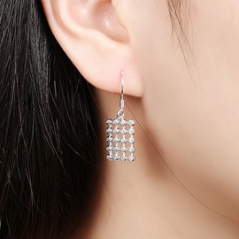 Ericdress Square Diamante Earrings