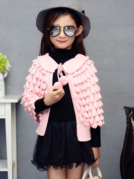 Ericdress Fish Scale Girls Cape