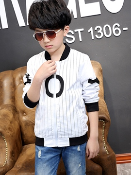 Ericdress Stripe Boys Baseball Jacket