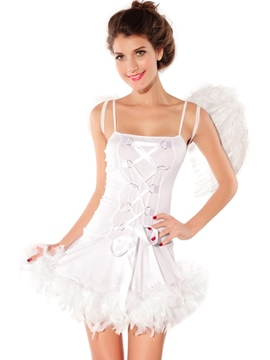 Ericdress White Wing Angel Cosplay Costume