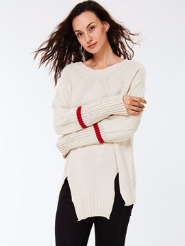 Ericdress Cut Detail Plain Loose Knitwear