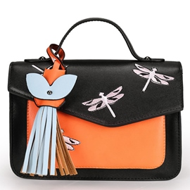 Vogue Dragonfly Embroidery Handbag