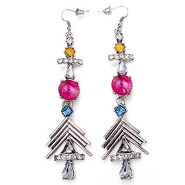 Ericdress Fashion Long Ancient Silver Earrings