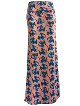 Ericdress SImple Print Bodycon Maxi Skirt