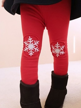 Ericdress Snowflake Print Girl's Leggings