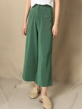 Ericdress Vintage Zipper Decoration Pants