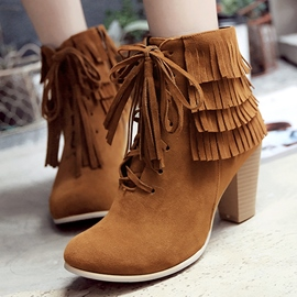 Ericdress Sweet Suede Tassels Ankle Boots