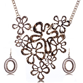 Ericdress Exquisite Metal Hollow Jewelry Set