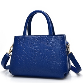 Ericdress Celebrity Rose Embossed Handbag