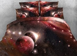 Ericdress Red Milky Way Print 3D Bedding Sets