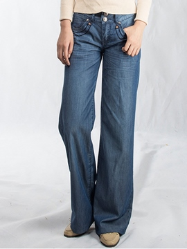 Ericdress Simple Loose Jeans