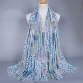 Ericdress Muslim Printed Cotton Scarf