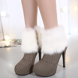 Ericdress Color Block High Heel Martin Boots
