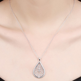Ericdress Water Droplets Pendant Necklace