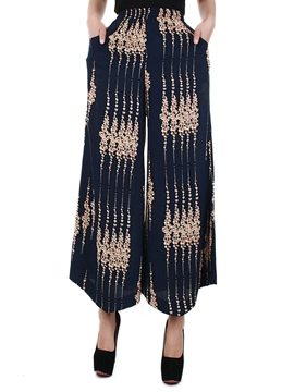 Ericdress Chinese Style Print Wide Legs Pants