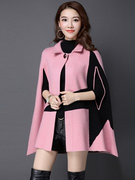 Ericdress Color Block Batwing Cape
