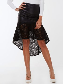 Ericdress Ladylike Lace Patchwork Mermaid Skirt
