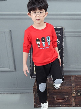 Ericdress Soldiers Print Boys Outfits